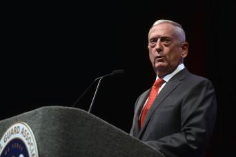 Mattis: National Guard integral to DOD effort to build lethality, alliances