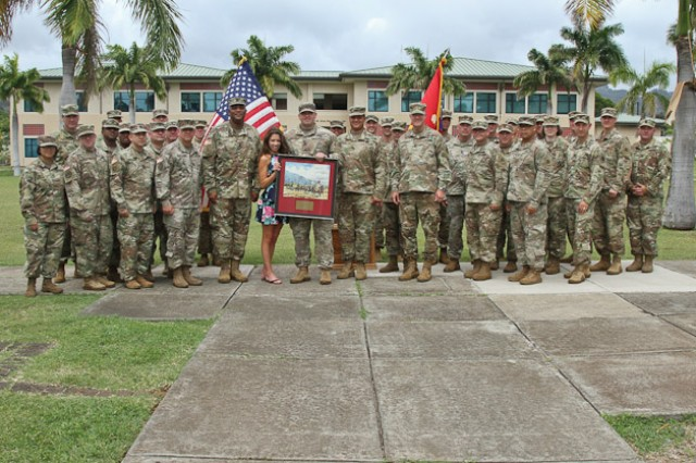 Sgt. 1st Class Jaime M. Castro, Field Artillery noncommissioned officer assigned to the 5th Battlefield Coordination Detachment (BCD) is recognized for his selection of the annual Edmund L. Gruber Award Competition.