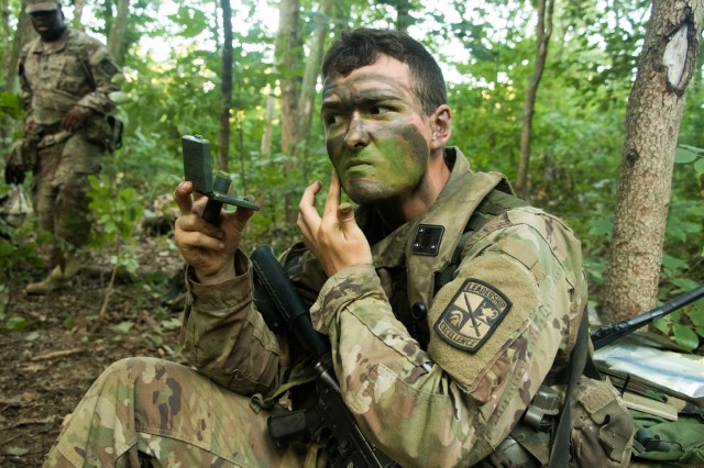 Cadets learned the finer points of camouflage and concealment during Cadet Summer Training.