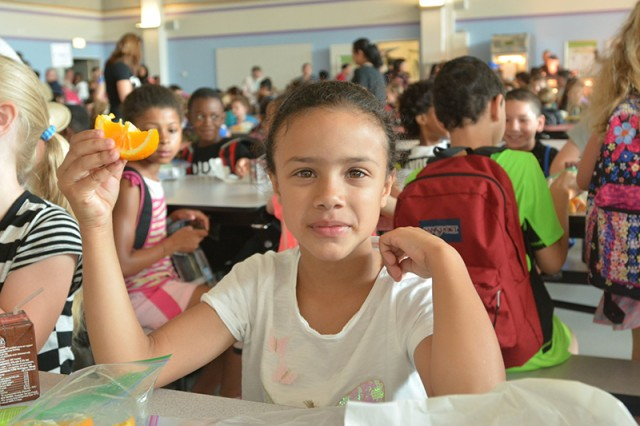 Elementary and middle school students participated in a trial run of the AAFES school breakfast program June 5, 2018, at the Department of Defense Education Activity-Europe's Netzaberg school complex.