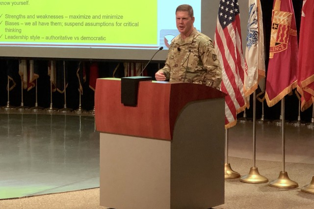 TACOM Commander Maj. Gen. Daniel Mitchell hosted his first town hall August 28 at the Detroit Arsenal.