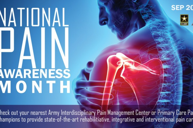 Pain Awareness Month in September allows medical professionals to increase awareness about the effects of pain and treatment options to alleviate pain and chronic pain affects more Americans than diabetes, heart disease, and cancer combined. (U.S. Army Image by Rebecca Westfall, MEDCOM/OTSG)