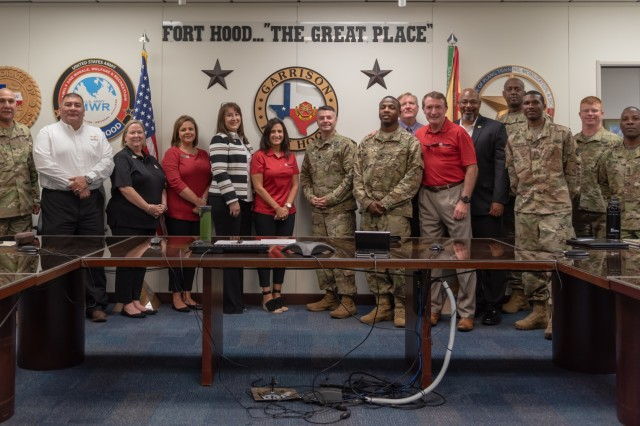 Leaders from the Houston area visited III Corps on Aug. 24 to build their relationship with their community partners at the 13th ESC. The visit further strengthens the relationship that began during Hurricane Harvey last year.