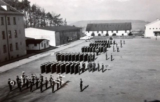 Barton Barracks parade field