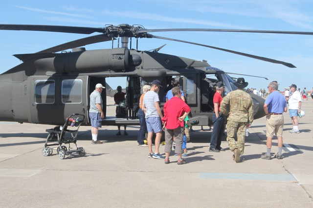 Attendees could see the newest version of the Black Hawk helicopter, the UH-60 Mike, courtesy of 3-227th Assault Helicopter Battalion, from Fort Hood, Texas.