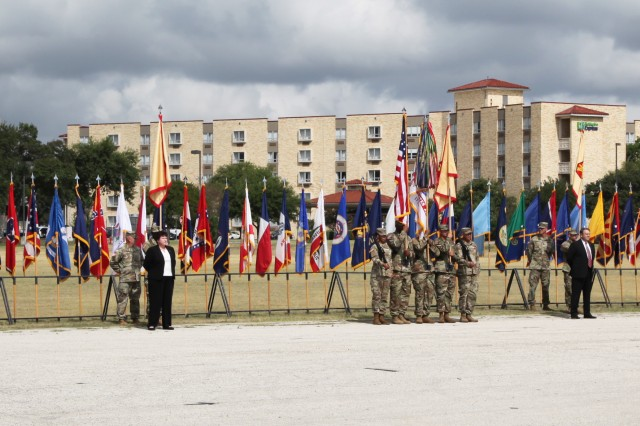 Directors and command sergeant majors from all IMCOM directorates attended the change of command ceremony Sept. 5 at JBSA-Fort Sam Houston.