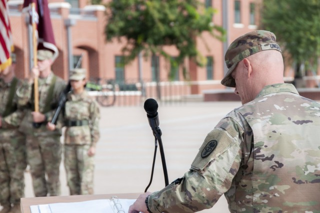 Fort Bliss WTB CSM relinquishes responsibility, retires