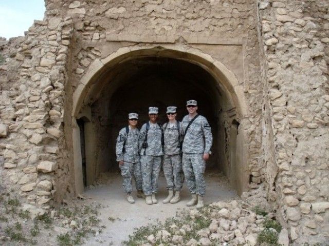 Lt.Col. Julie Hundertmark with colleagues in Iraq