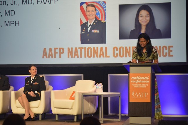 Lt.Col. Julie Hundertmark at the American Academy of Family Physicians Conference