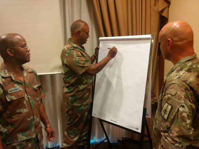 African and American military chaplains exchange ideas and experiences