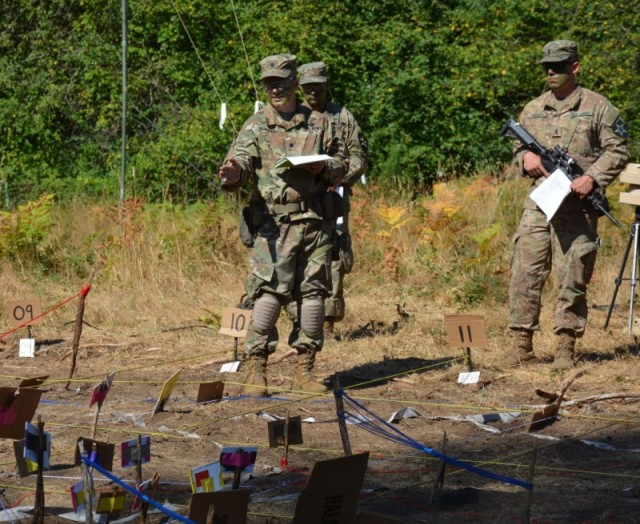 Soldiers from 4th Battalion, 23d Infantry and Charger Company, 1st Battalion, 5th Infantry Regiment conduct a combined arms rehearsal
