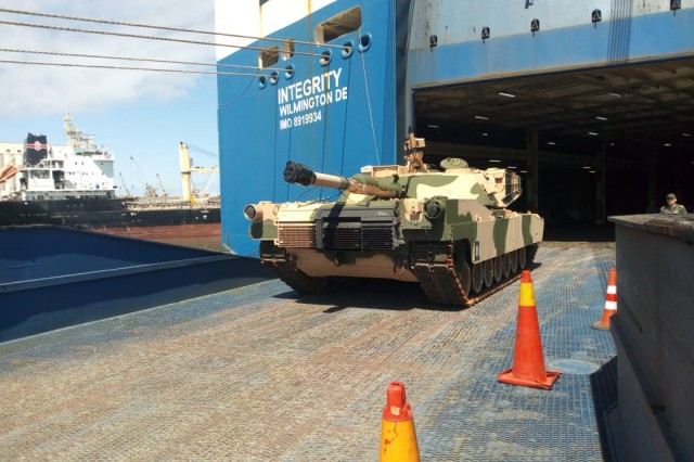 One of more than 50 Abrams tanks that were delivered to Morocco in June, bringing total deliveries to more than 170 of the 222 requested.