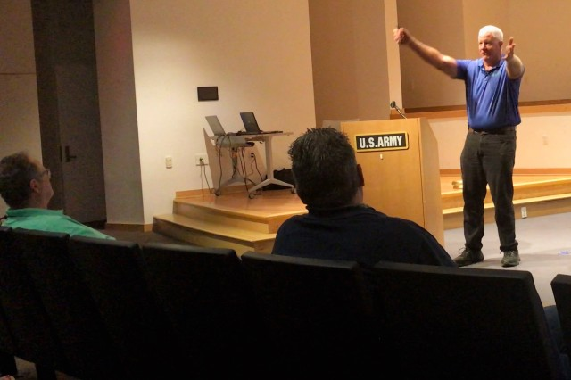 David Madaras, certified safety professional from the Chesapeake Region Safety Council, began the 'Slips, trips and falls' presentation by explaining how he became the 'safety guy.'