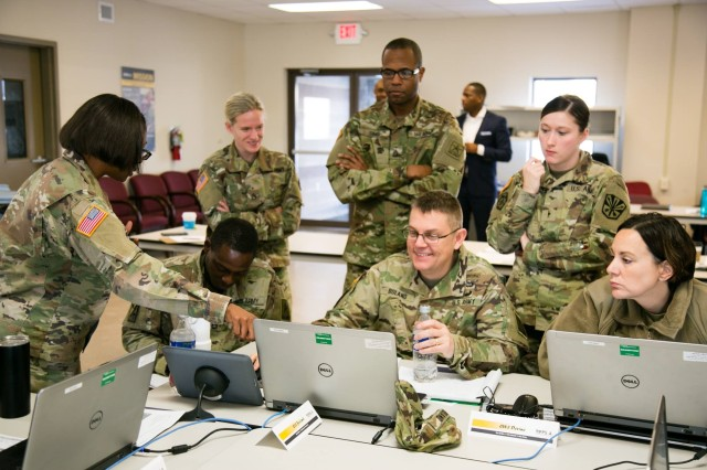 Soldiers and Army Civilians provide feedback to the IPPS-A Program during a User Jury in late 2017. User Juries use operational mission scenarios to showcase various features and functionality.