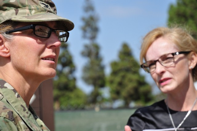 Col. Kim Colloton visits the VA Long Beach project. The $300 million VA Long Beach project consists of five phases. The first phase includes a behavioral/mental health facility and a 40 bed inpatient facility. Colloton was briefed by Project Manager Monica Eichler.