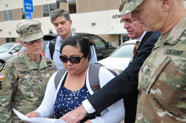 Los Angeles District VA Program Manager Bob Klein and VA San Diego Healthcare System Medical Center Project Manager Jenn Rivo provided a tour and project update to USACE Deputy Director of Military Programs Brig. Gen. Glenn Goddard and USACE South Pacific Division Commander Col. Kim Colloton. This project will deliver a new Spinal Cord Injury Center consisting of 50 private inpatient rooms, three new clinics and an 800 car parking garage for the VA to continue providing the best healthcare to the Nation's veterans.