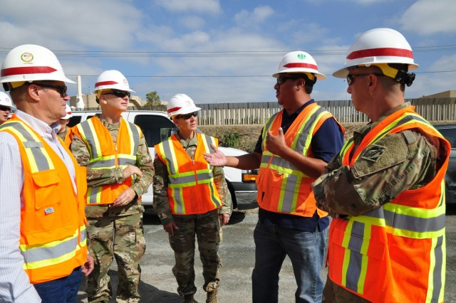 U.S. Army Corps of Engineers, Headquarters Deputy Director of Military Programs Brig. Gen. Glenn Goddard, USACE South Pacific Division Commander Col. Kim Colloton and Los Angeles District Commander Col. Aaron Barta conducted border infrastructure project site visits. The leadership team received updates on San Diego border infrastructure fence replacement, to include current progress, the way ahead and transparent communication with USACE partners.