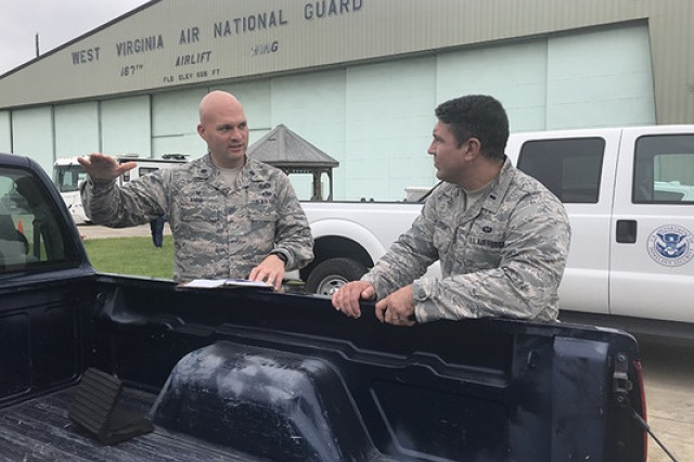 The 167th Airlift Wing, West Virginia Air National Guard, is serving as a staging area for the Federal Emergency Management Agency ahead of Hurricane Florence's expected impact along the East Coast this week. About 70 trailers full of food, water, blankets, cots, tents and fuel will be on standby, ready to mobilize as needed from the Martinsburg, W.Va., base.