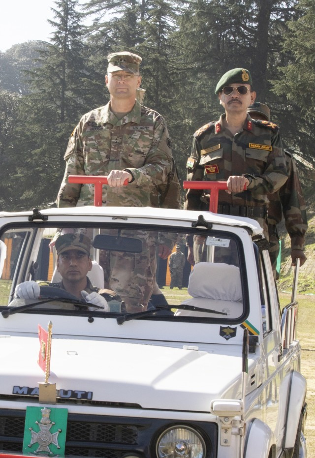 Bayonet Soldiers begin bilateral training exercise in India