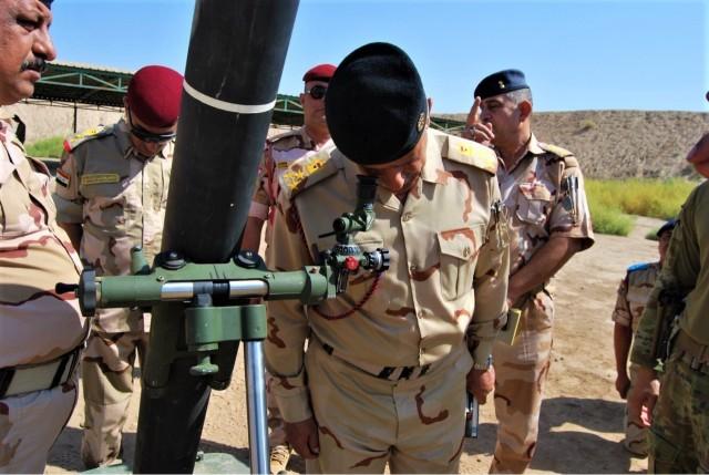 Brave Rifles and Coalition Mortarmen Train Iraqi Troops