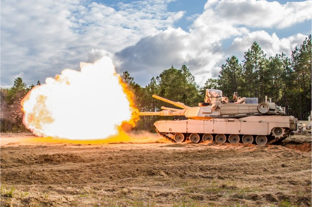 An Abrams tank participates in a U.S. Army training exercise, Sept. 5, 2018. Development of a Next Generation Combat Vehicle is one of the six modernization priorities for the new Army Futures Command.