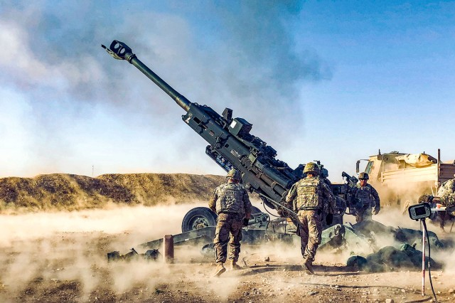 Soldiers from the 3rd Cavalry Regiment, supported Iraqi army operations with artillery fires from their M777A2 Howitzers, Aug. 12, 2018. They are are currently deployed to Iraq in support of Combined Joint Task Force Operation Inherent Resolve working with Iraqi Security Forces and coalition partners to defeat ISIS in Iraq and Syria.
