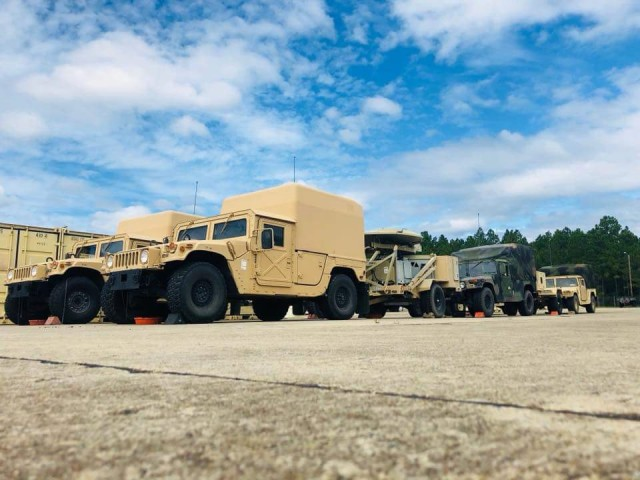 B Company, 63rd Expeditionary Signal Battalion prepares for Hurricane Florence Relief missions
