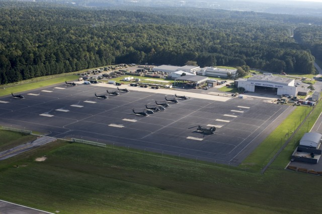 The North Carolina National Guard Army Aviation Support Facility in Morrisville, N.C. is hosting Guardsmen and aircraft from 13 states who have flown in to support the Carolinas in the aftermath of Hurricane Florence.