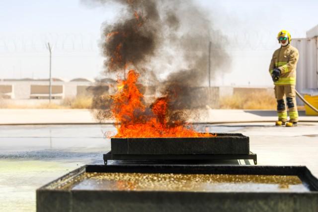 Kandahar Airfield fire department train Afghan National Police, army