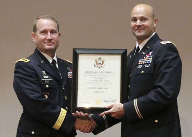 Cote retires from Army after 28-plus year career