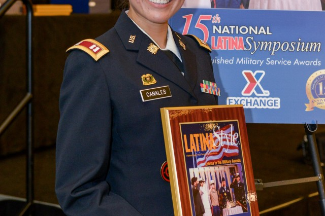 New York Army National Guard Capt. Elsa Canales, a logistics officer, was recognized by Latina Style Magazine for her military accomplishments during a Sept. 6 award ceremony in Arlington, Va.