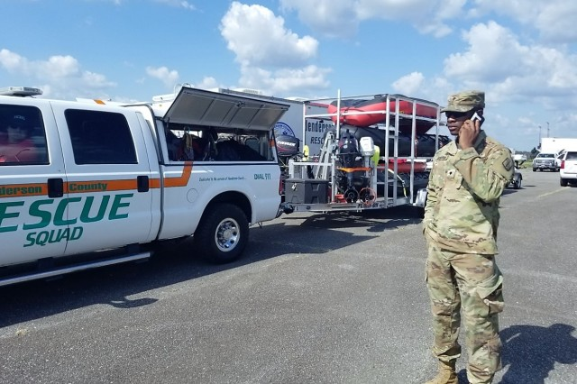 The North Carolina Army National Guard 113th Sustainment Brigade used its Disaster Incident Response Emergency Communications Terminal (DIRECT) to provide 4G LTE to the Army National Guard and first responders in Kinston, N.C., in the aftermath of Hurricane Florence, Sept. 2018.