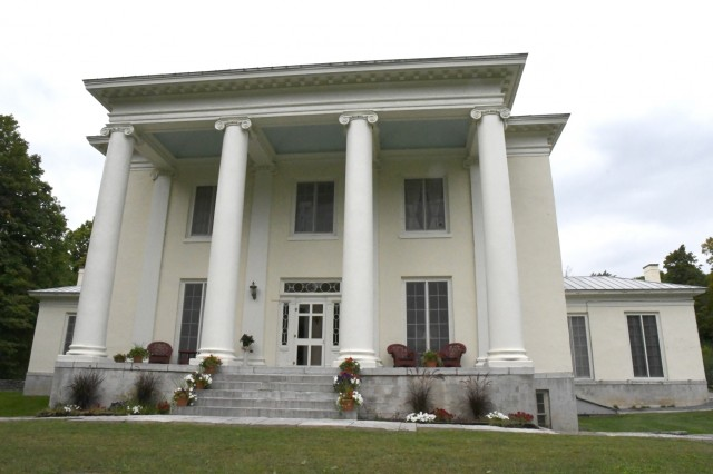 Thousands of North Country community members have visited the LeRay Mansion Historic District at Fort Drum, and in recent years it has become a popular stop on the history tours. The public can volunteer to assist Cultural and Natural Resources staff with a landscape upgrade from 10 a.m. - 2 p.m. Oct. 13. Fort Drum was the recipient of a National Public Lands Day Department of Defense Award, submitted by the Cultural Resources and Natural Resources branches of Public Works, to fund a beautification project on post. (Photo by Mike Strasser, Fort Drum Garrison Public Affairs)