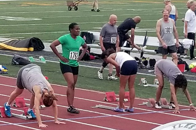 Col. Shawn Edwards prepares for a big run at the Kentucky Senior Games.