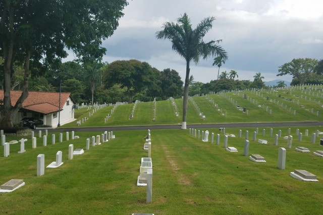 Corozal American Cemetary in Panama City, Panama, June 28, 2018. Corozal was mapped as part of a pilot program is supported through a cooperative effort between the American Battle Monuments Commission, Arlington National Cemetary, the United States Army Corps of Engineers, the Army GeoSpatial Center and Product Director Combat Terrain Information Systems. (U.S. Army Photo/Courtesy USACE)