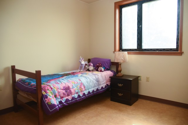 An interior view of the new Army Family Housing Tower at Camp Walker, South Korea.