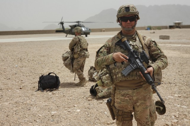 U.S. Army Capt. Vicente Garcia, a field artillery officer from the California National Guard, is currently serving as an advisor to the Provincial Civil Advising Team for Train, Advise and Assist Command-South in Afghanistan.
