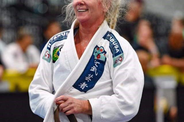 Jeane Saari-Ruiz wins her fourth world title in Las Vegas. (Photo courtesy Jeane Saari-Ruiz)