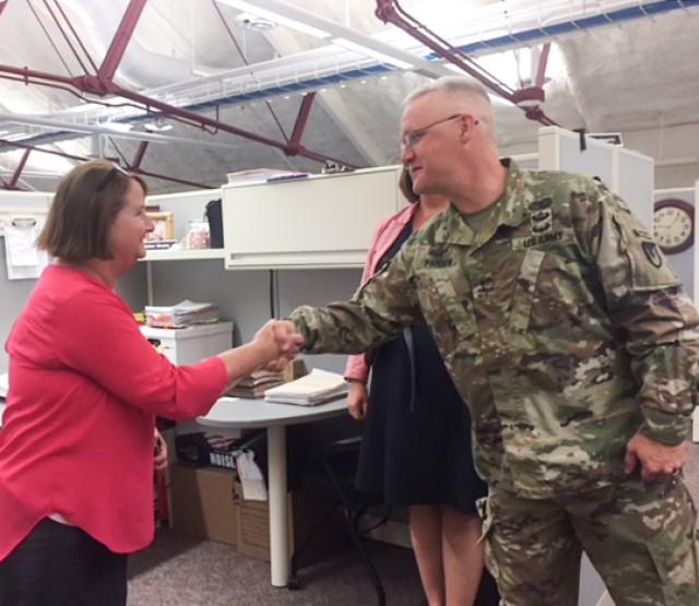 Maj. Gen. Pardew visits ACC-RI