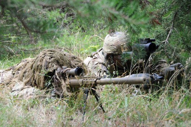 The current ghillie suit, known as the Flame Resistant Ghillie System, is shown here. A new suit, called the Improved Ghillie System, or IGS, is under development.