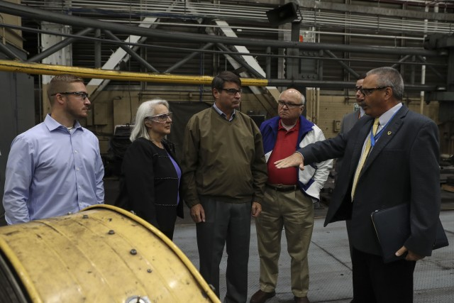 Team tours Watervliet Arsenal, talks future of manufacturing