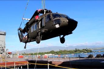 599th Trans. Bde. partnership uploads USNS Bob Hope