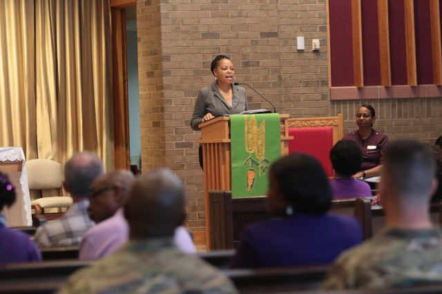 'You can have a bad childhood and still have a good life,' Stacia McFadden, a Sexual Assault Response Coordinator, told a gathering Tuesday at the Main Post Chapel.