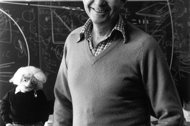 Dr. Leon M. Lederman, Director Emeritus at Fermi National Laboratory, Batavia, Illinois, shown in 1988.
