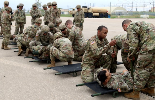 Brave Rifles sharpen skills during CASEVAC training