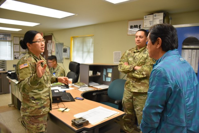 Echo Company, 2-1 ADA at Camp Carroll, South Korea was recently awarded the 8A Army Award for Maintenance Excellence (AAME) and will now be competing at the USARPAC level. Soldiers are seen here going through 8A maintenance inspections.