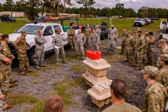 Guard members mobilize as Hurricane Michael approaches Florida