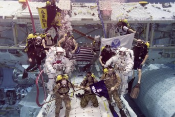 Army astronauts promoted while underwater