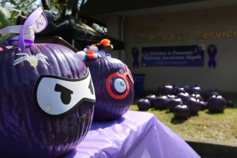 'Purple Pumpkin' event brings domestic violence awareness to Camp Zama community