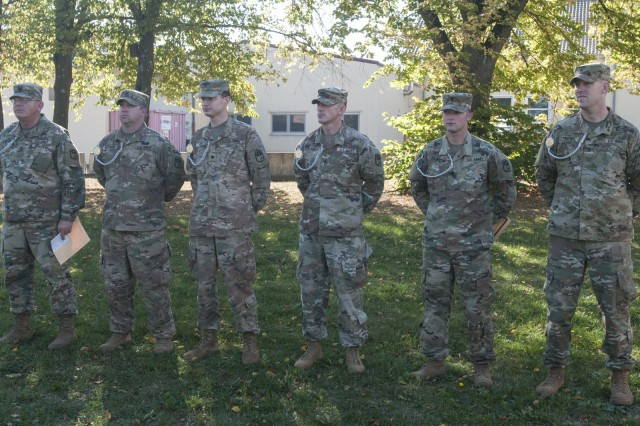 Soldiers from the 678th ADA BDE, South Carolina National Guard, participated in the Schuetzenschnur, earning badges for excellence, while building alliances with their German counterparts, September 22 and 29, 2018, Lager Lechfeld, Germany.